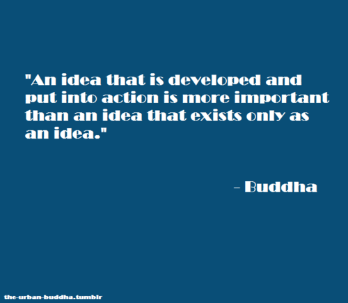 Action Quote Buddha