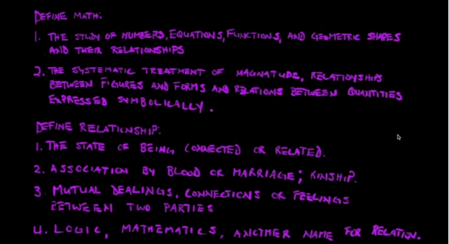 Relationships and Math